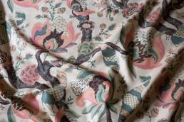 Cornucopia Celadon and Blush Fabric