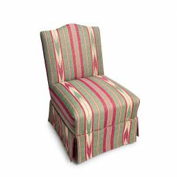 Slipper Chair Oulton Stripe Rhubarb